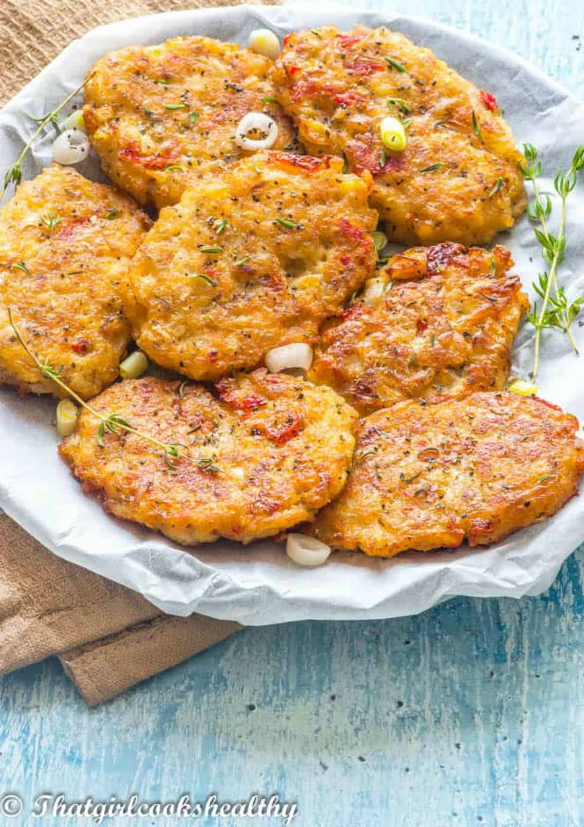 fritters on a plate