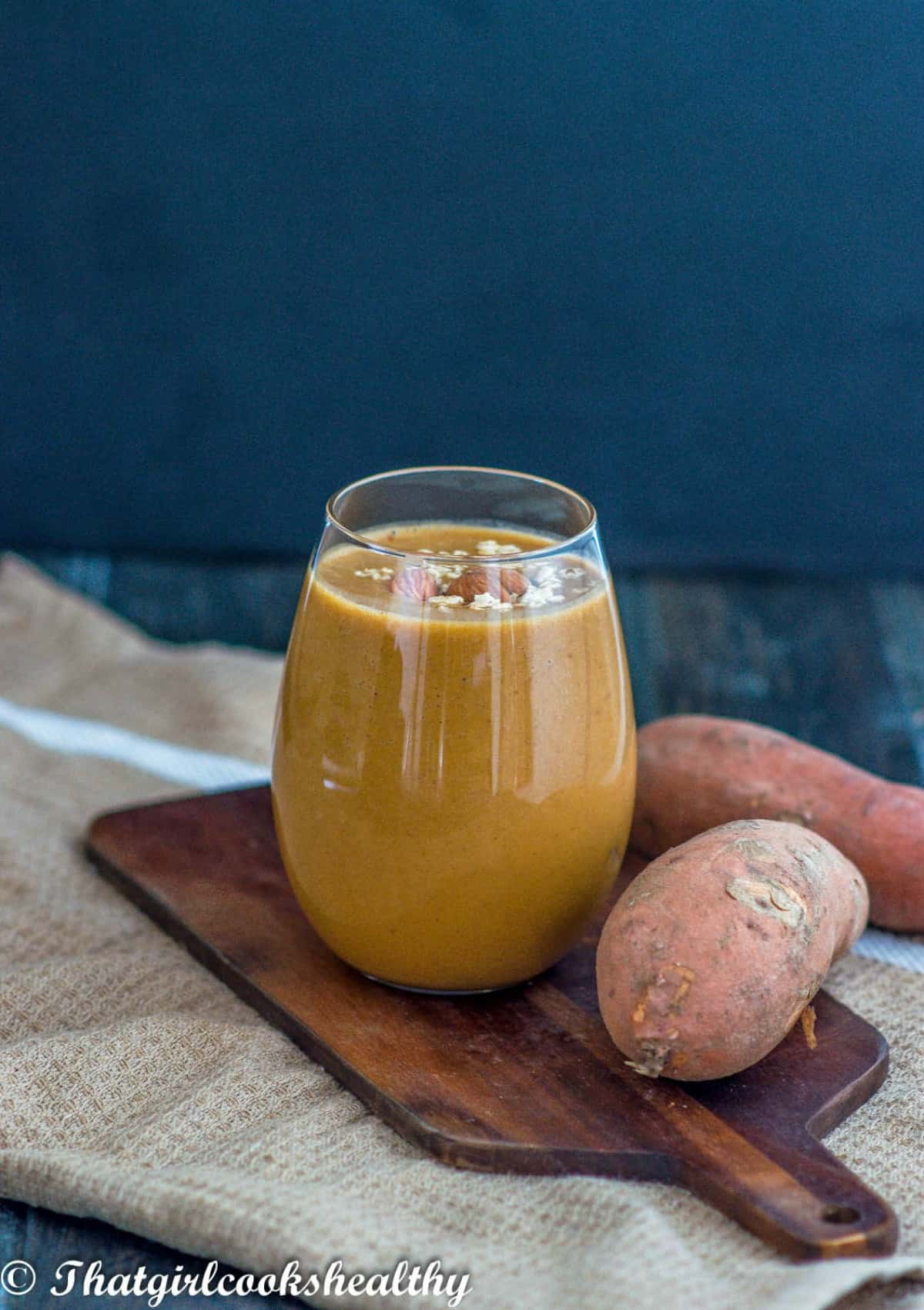 smoothie with two sweet potatoes