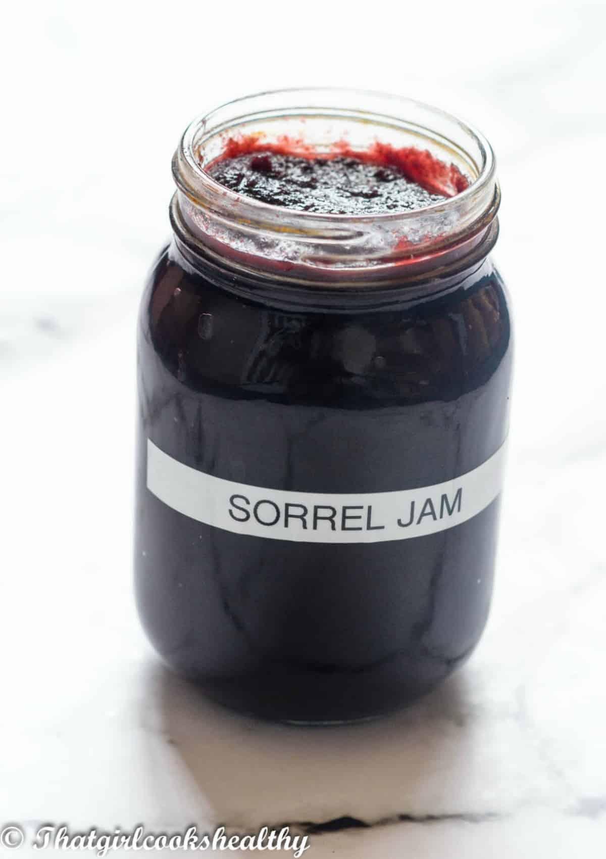 jam in a mason jar