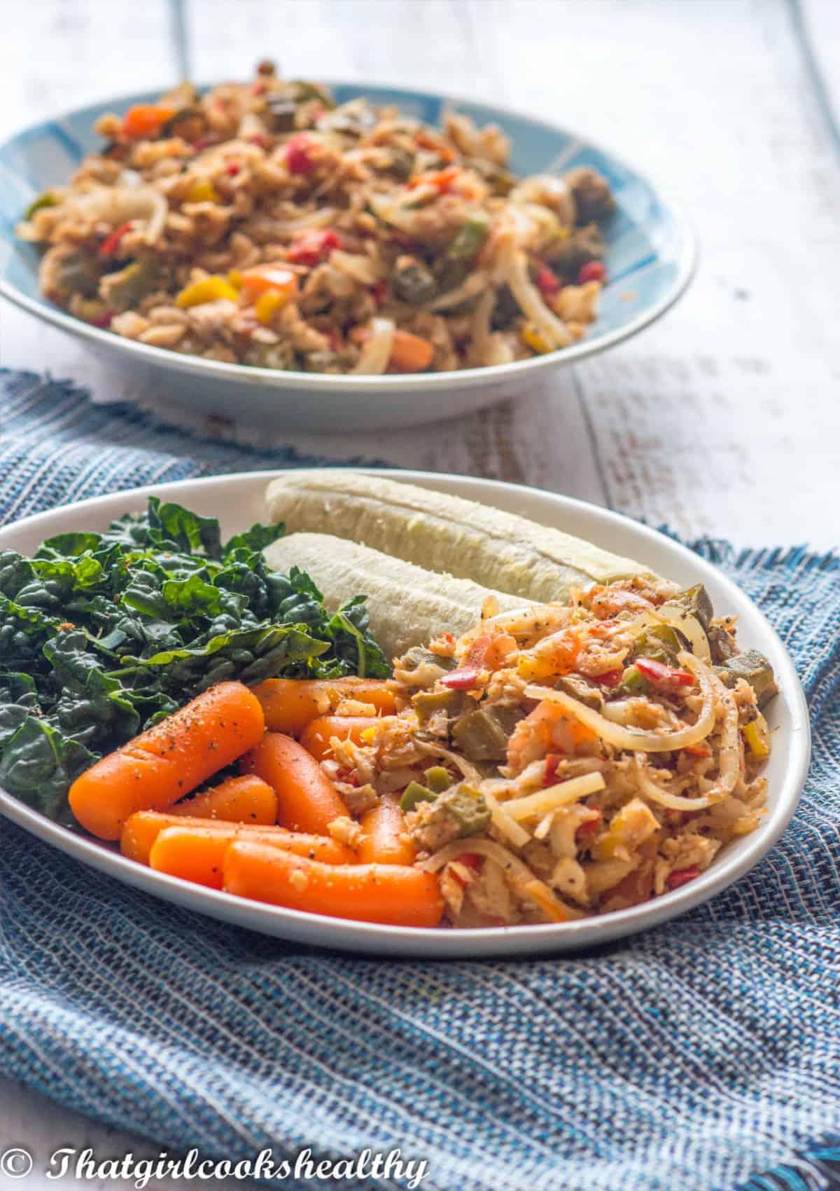 saltfish with vegetables