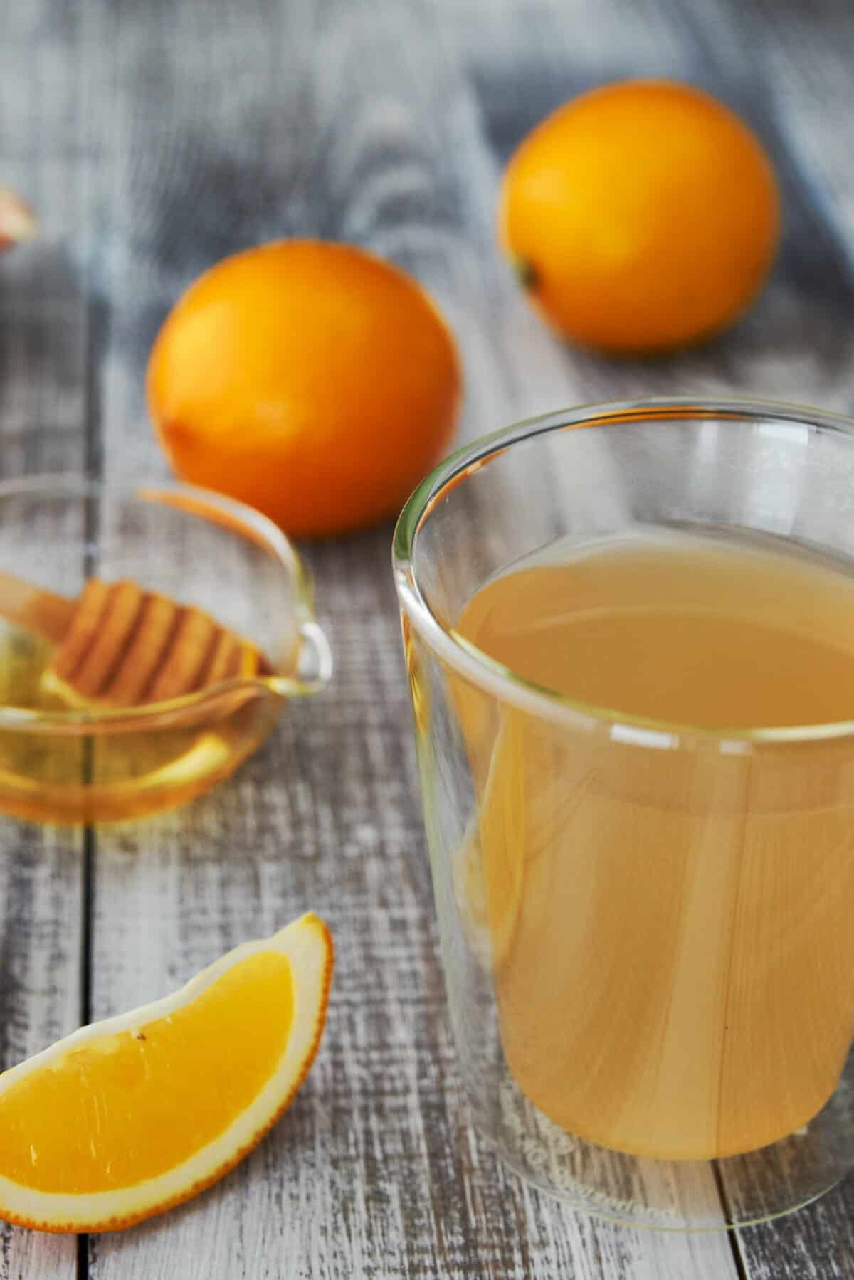 This Shogayu recipe (ginger tea) is fragrant, warming and delicious, and all you need to make it is some fresh ginger, lemon and honey.