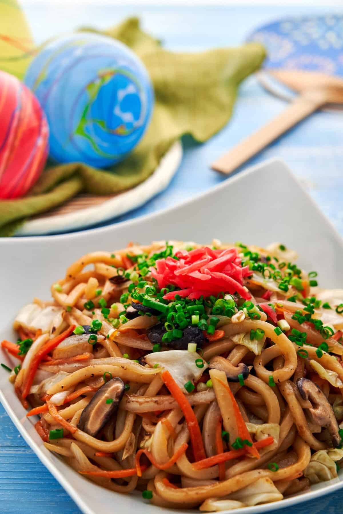 With thick, springy noodles and loads of veggies, Yaki Udon is an easy noodle stir-fry that's a street-food favorite in Japan.