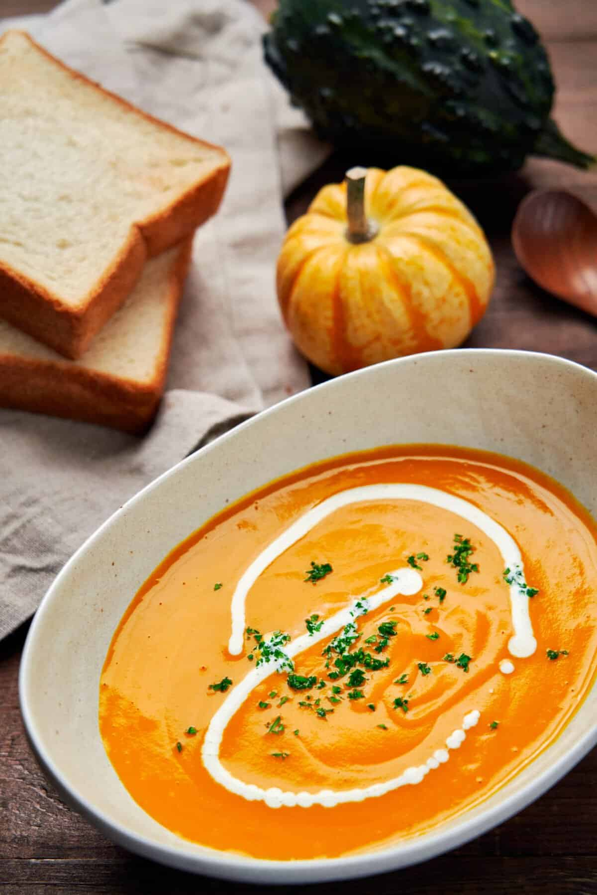 Rich, hearty, and packed with flavor, this easy kabocha squash soup is the perfect comfort food for a chilly autumn day.