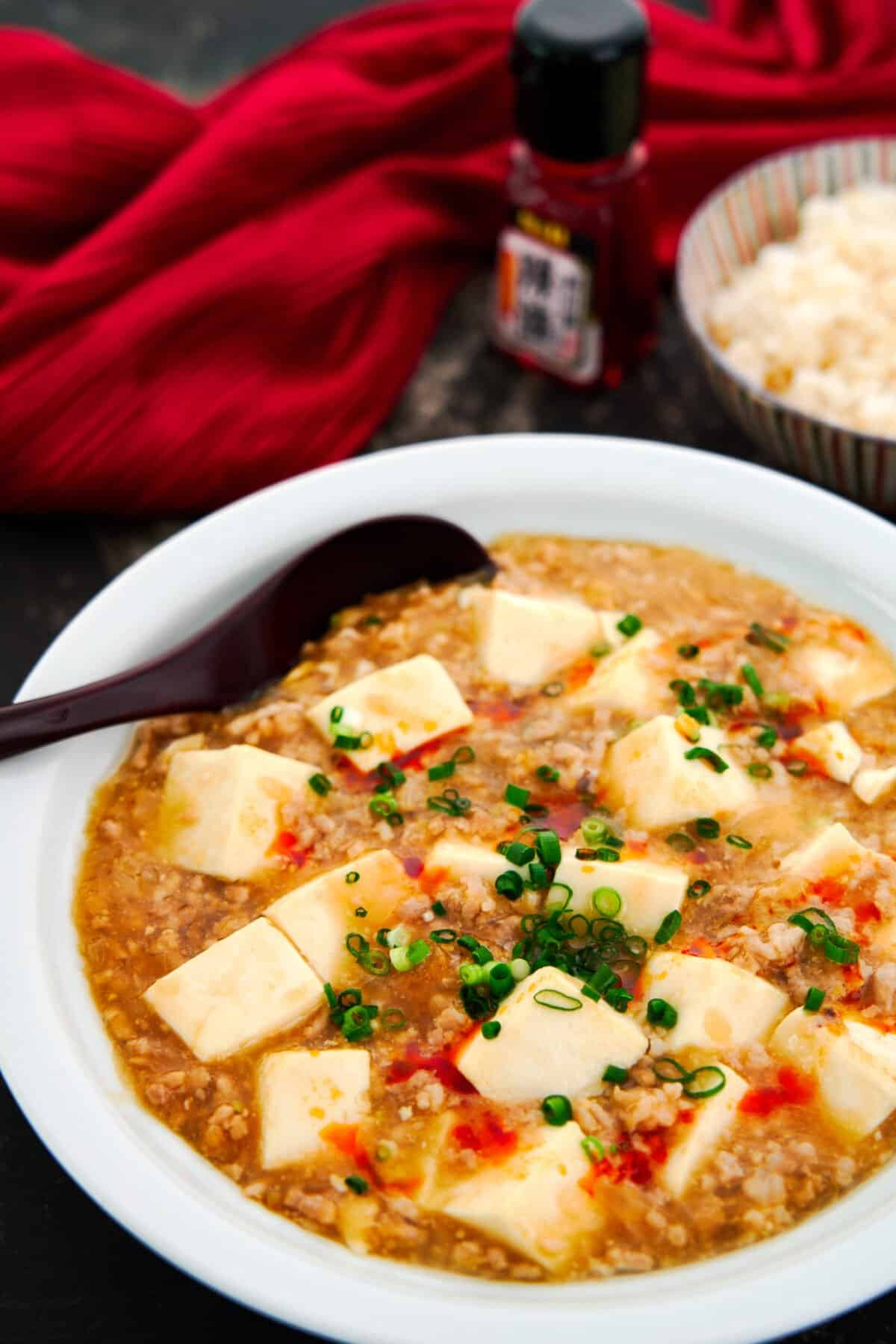 With silky tofu in savory meat sauce, this Japanese Mapo Tofu is an easy mild alternative to the classic Sichuan dish.