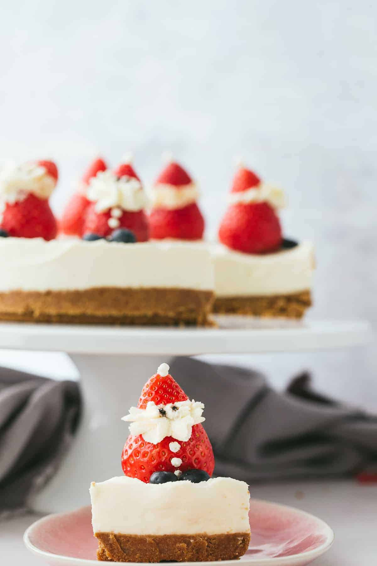 A Christmas Cheesecake.