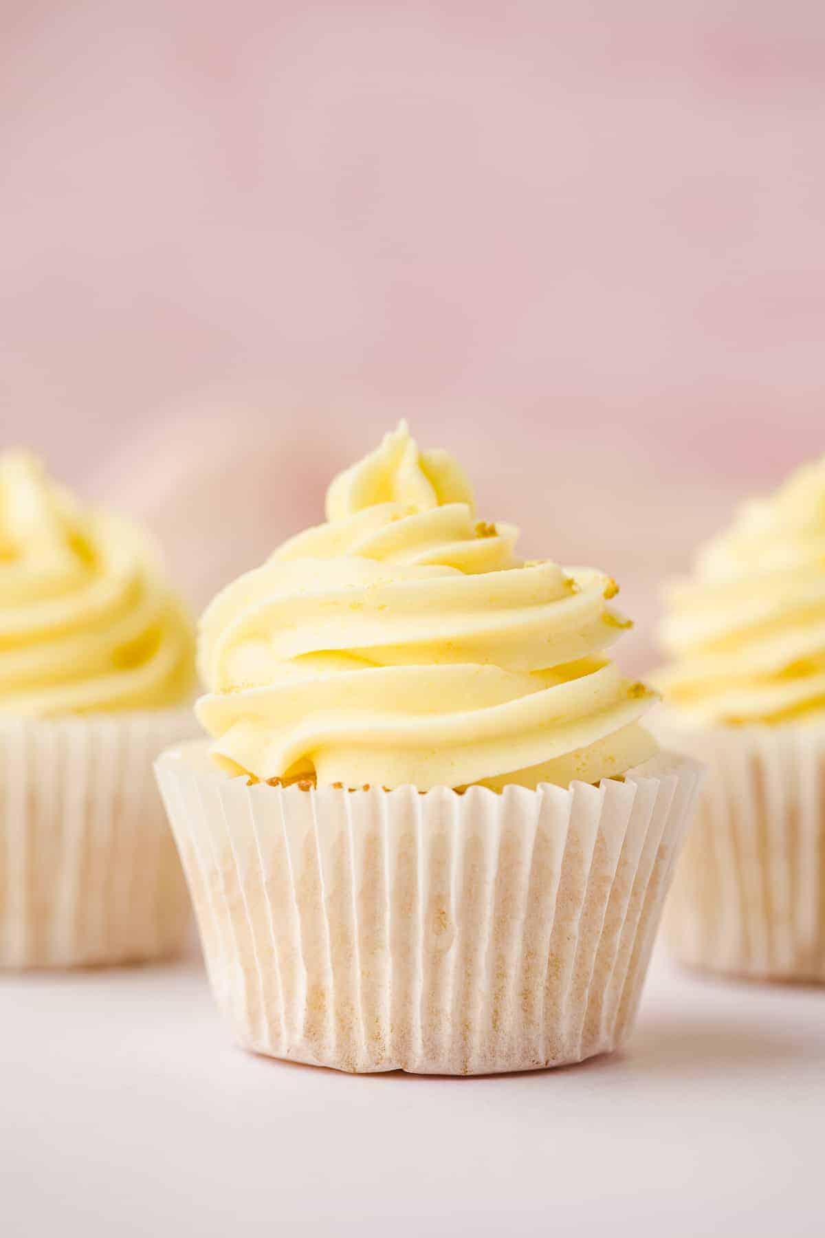 Zesty lemon cupcakes.