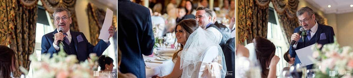 Brides dad makes his speech.