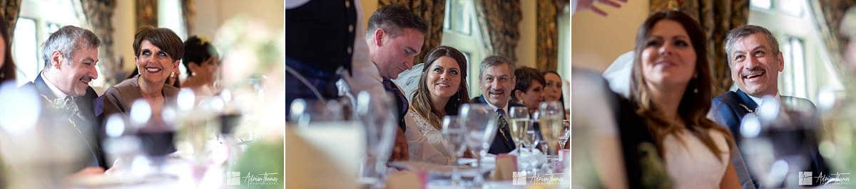 Brides family during speeches.