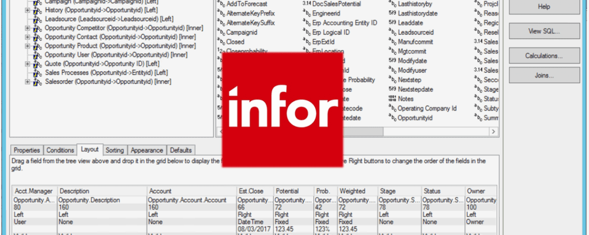 Infor CRM Groups