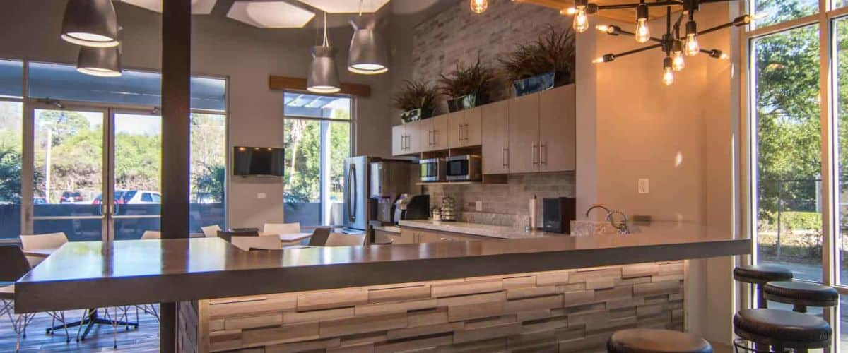 Tampa Corporate Break Room Concrete Countertops