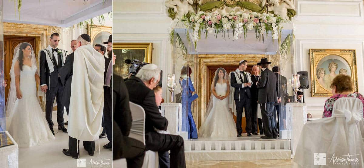 Full length image of the Chuppah with bride and groom.