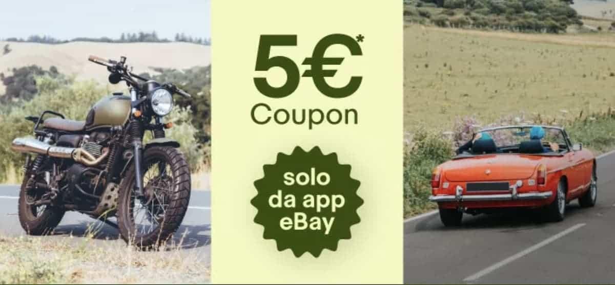 Coupon eBay Motori PITSTOPGIU20