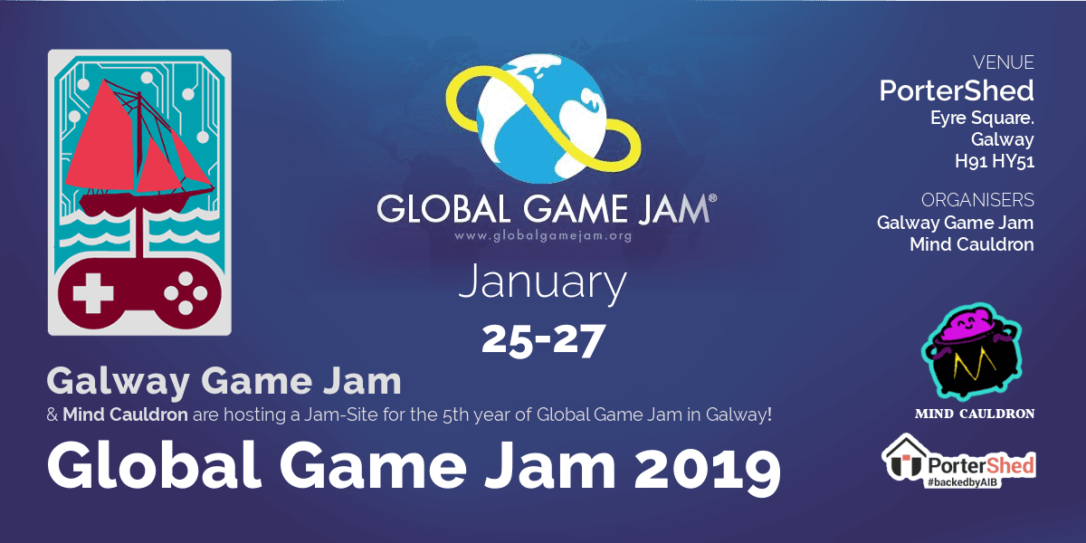 Global Game Jam '19 at PorterShed, Galway