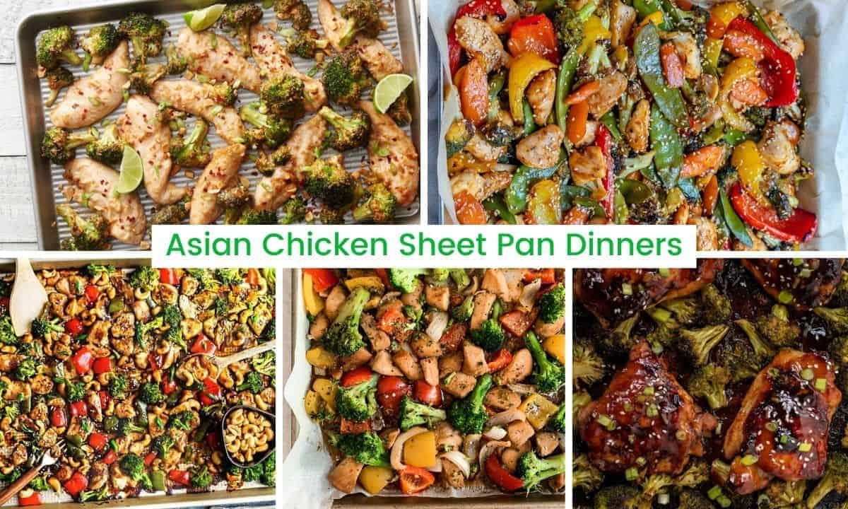 Asian chicken sheet pan dinners