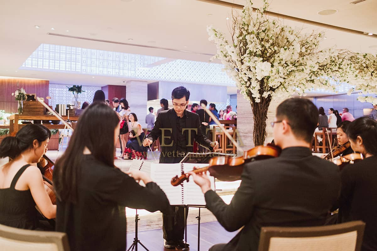 VETTA String Orchestra performance highlight for wedding at Grand Hyatt