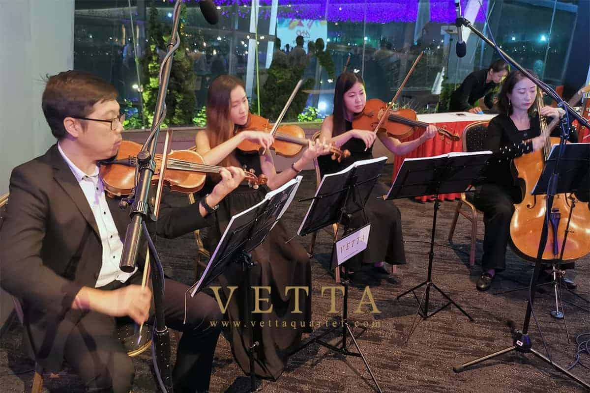 String Quartet for MND National Day Awards Investiture 2019 at Gardens By The Bay, Flower Field Hall