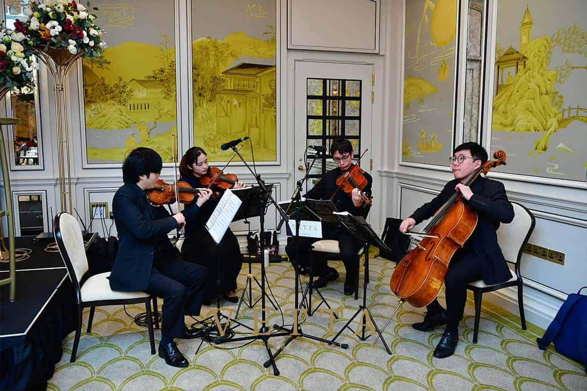 VETTA String Quartet for Yulin & Celine's Wedding at Raffles Hotel, Palm Hotel