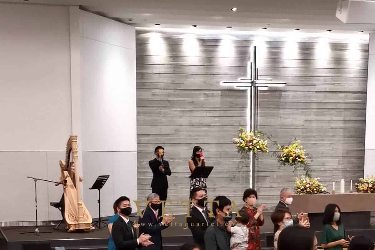 VETTA Solo Harp for Wedding at Grace Baptist Church
