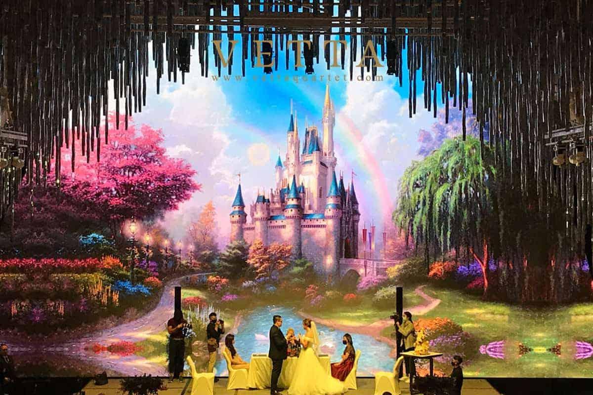 VETTA String Quartet played for Disney Themed Wedding at JW Marriot Singapore