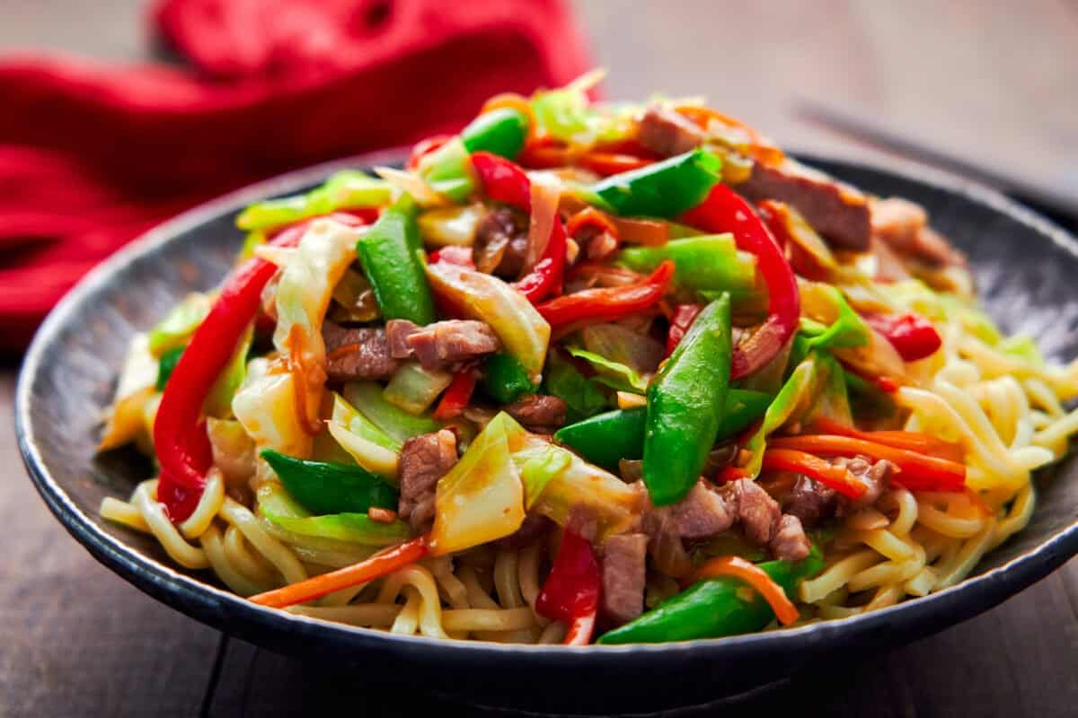 With a rainbow of crisp, flavorful veggies and tender, juicy pork, this modern take on Chop Suey is sure to be a hit.