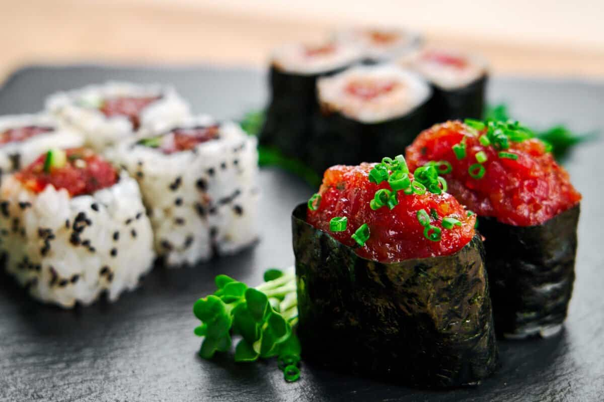 3 different styles of spicy tuna roll sushi, made easy with this step-by-step recipe and video.