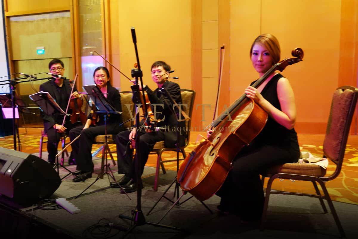 String Quartet for Wedding Dinner at Marina Bay Sands