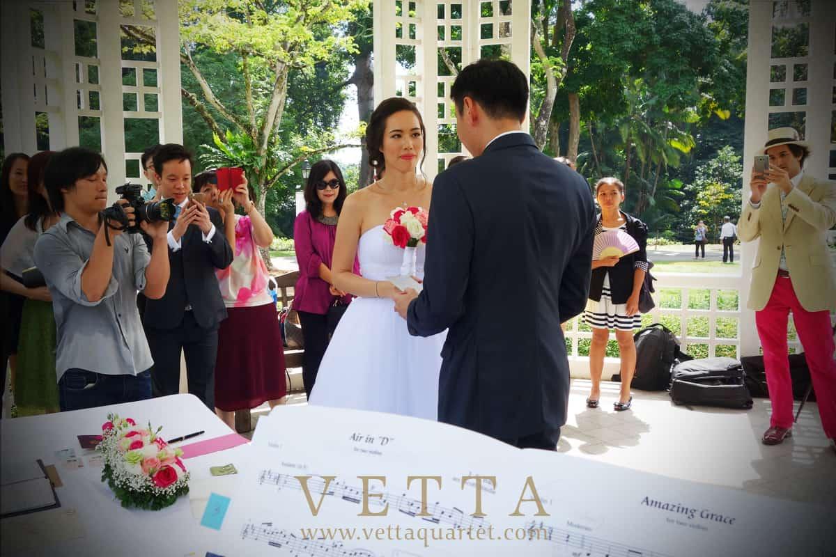 wedding at botanic gardens bandstand