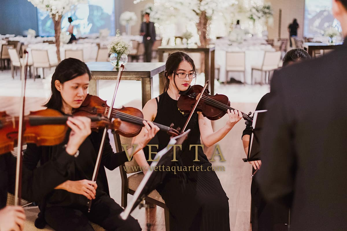 String Ensemble for exquisite wedding at Grand Hyatt Singapore