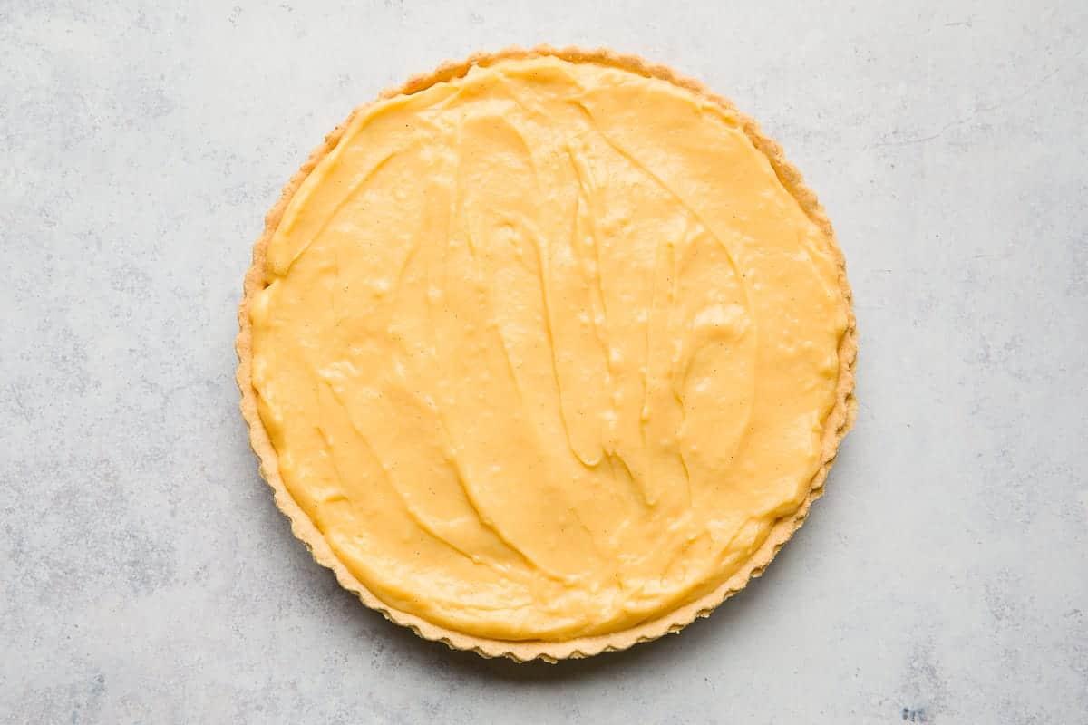 A custard pie.