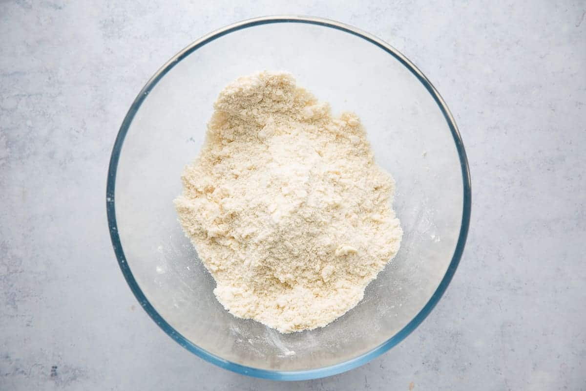 Flour and butter that has been rubbed together to resemble fine breadcrumbs.
