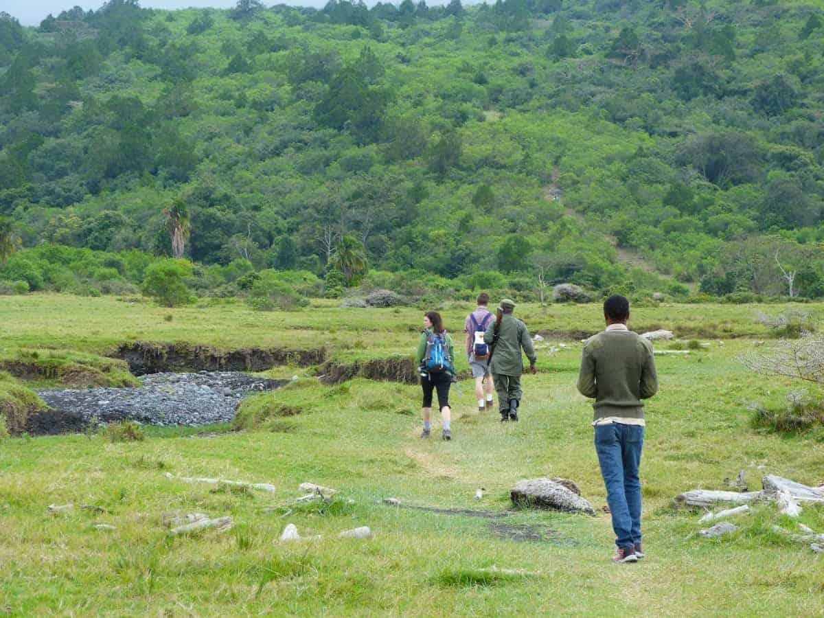 Safari a pie por el parque nacional de Arusha