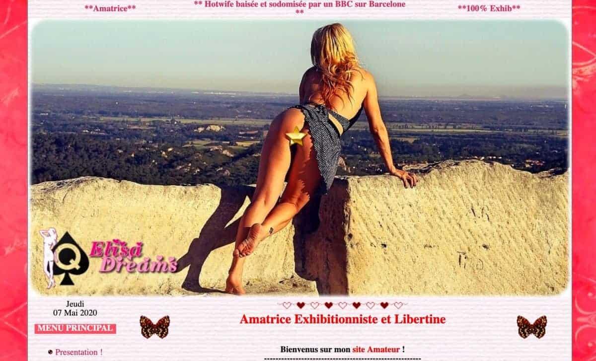 La hotwife amatrice Elysa-Exhib aime le sexe hard et vous le montre