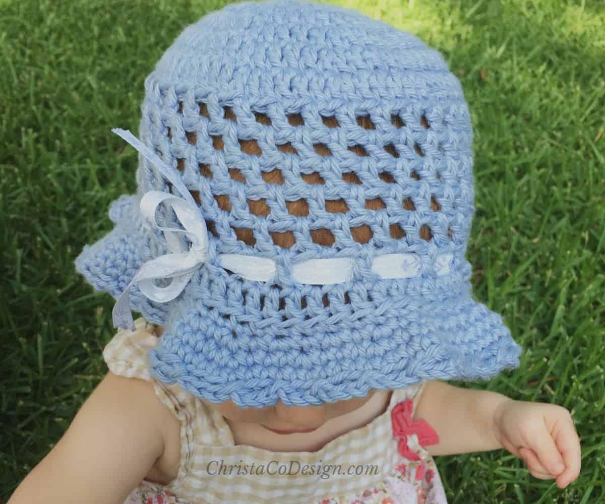 Crochet Toddler Sun Hat Photo Tutorial