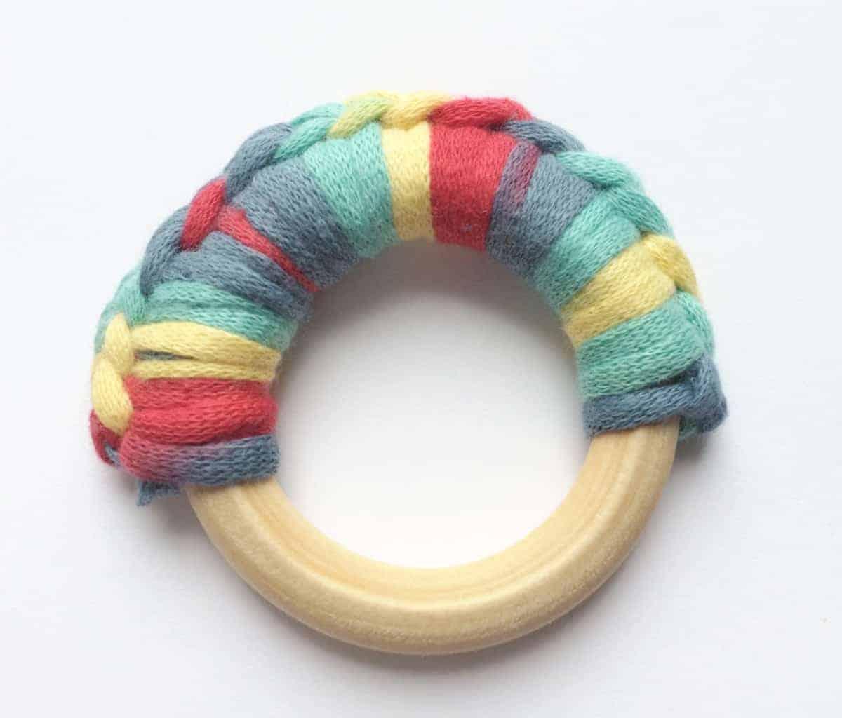 Wooden Ring Teether Crochet Pattern + Tutorial