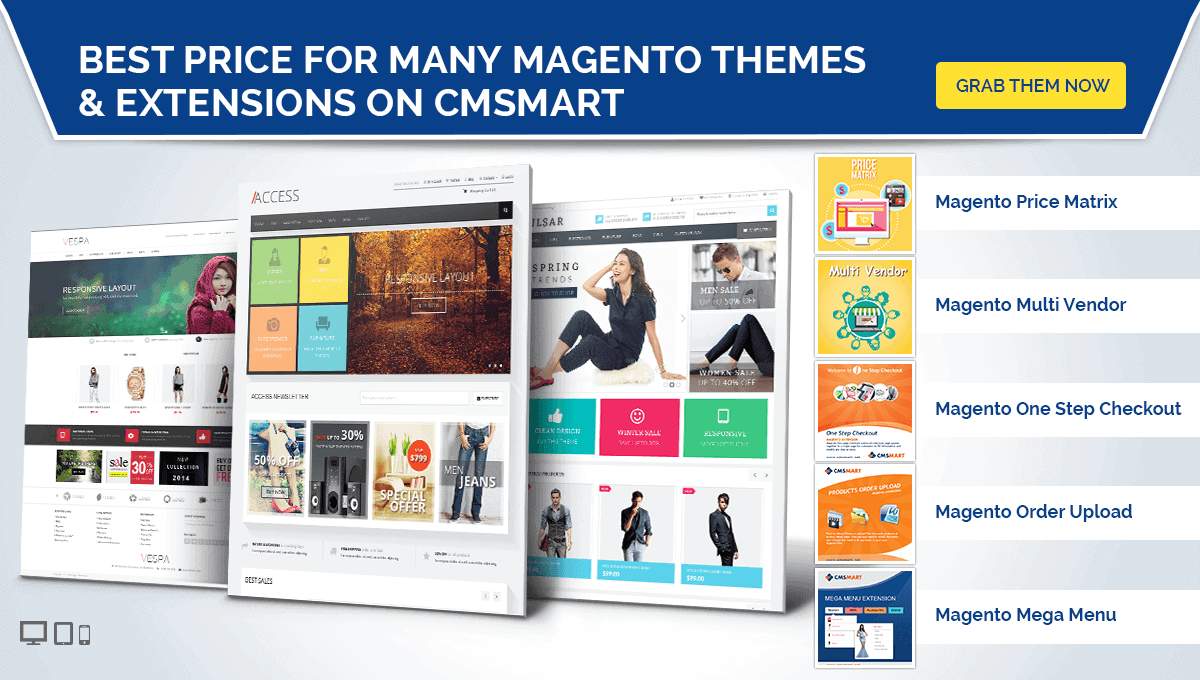 best price for magento themes and extensions