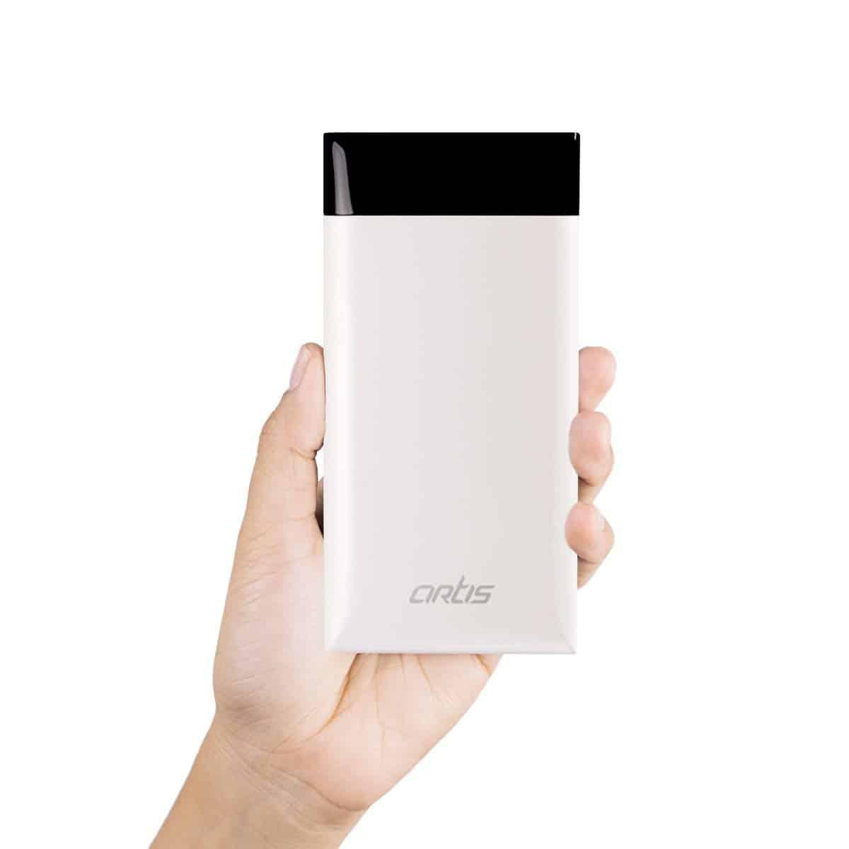 Artis AR-PB15000 15000mAH Lithium Polymer Slim Power Bank (White)