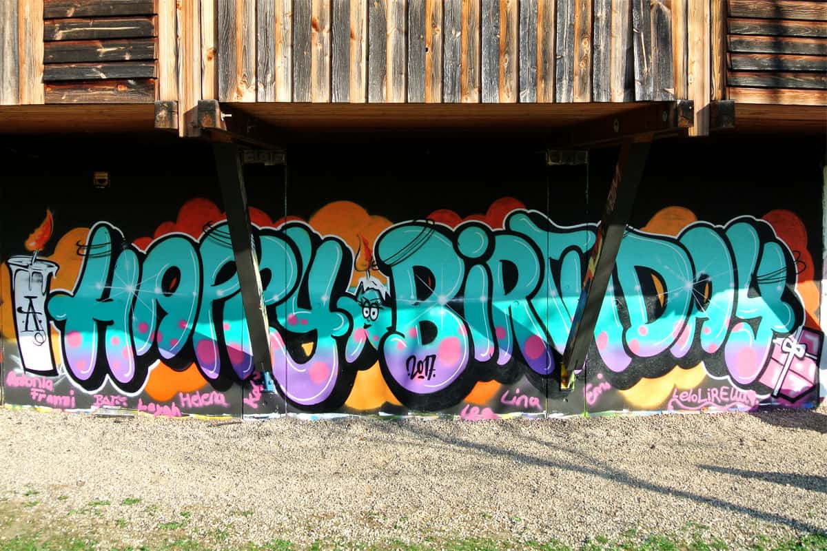 "Graffiti Kindergeburtstag ""HAPPY BIRTHDAY"" - Graffiti ..."