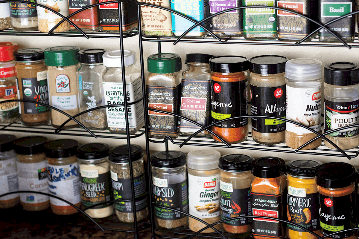 Spices for the gluten-free vegan pantry