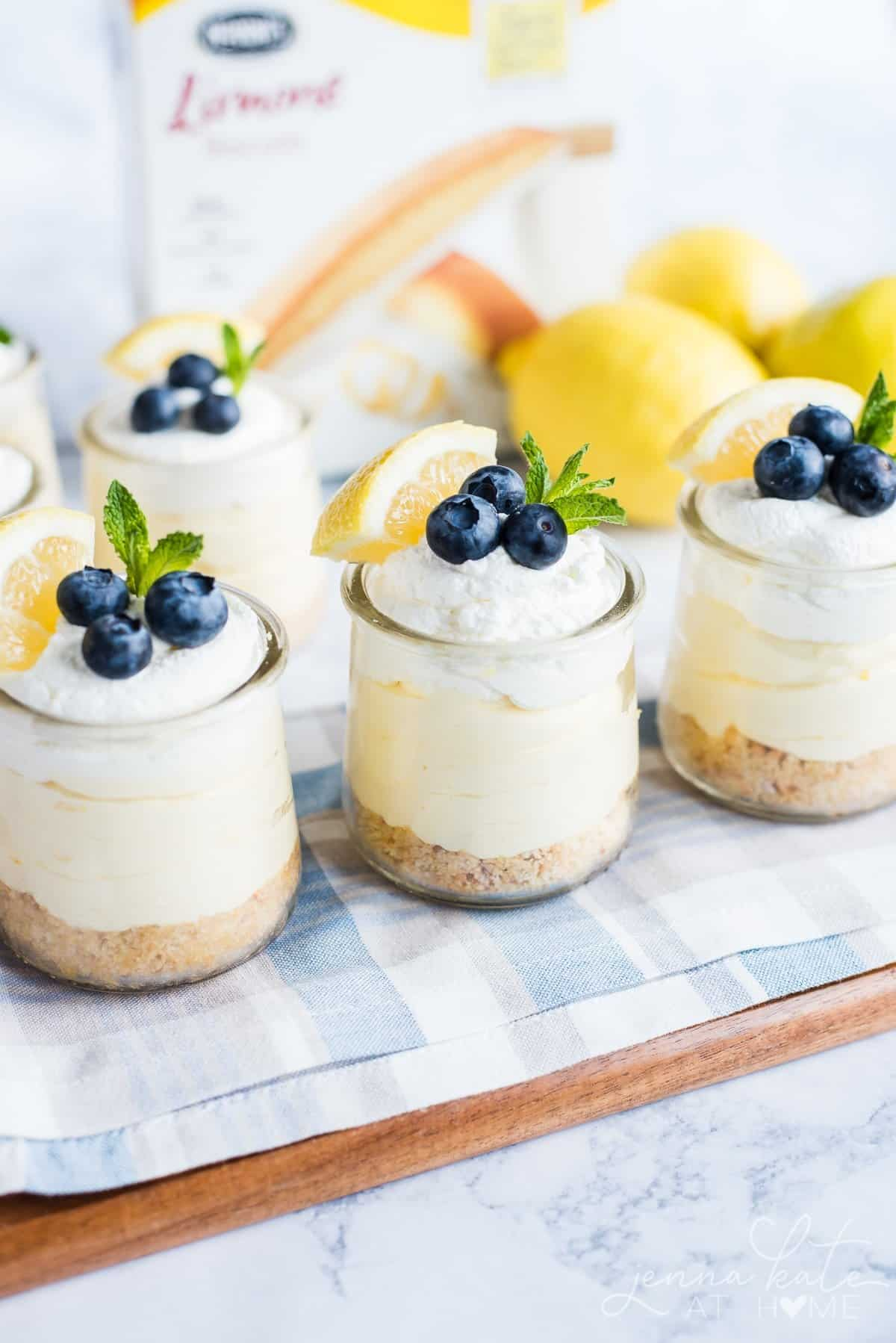 Lemon Mousse Cheesecakes made with real lemon curd