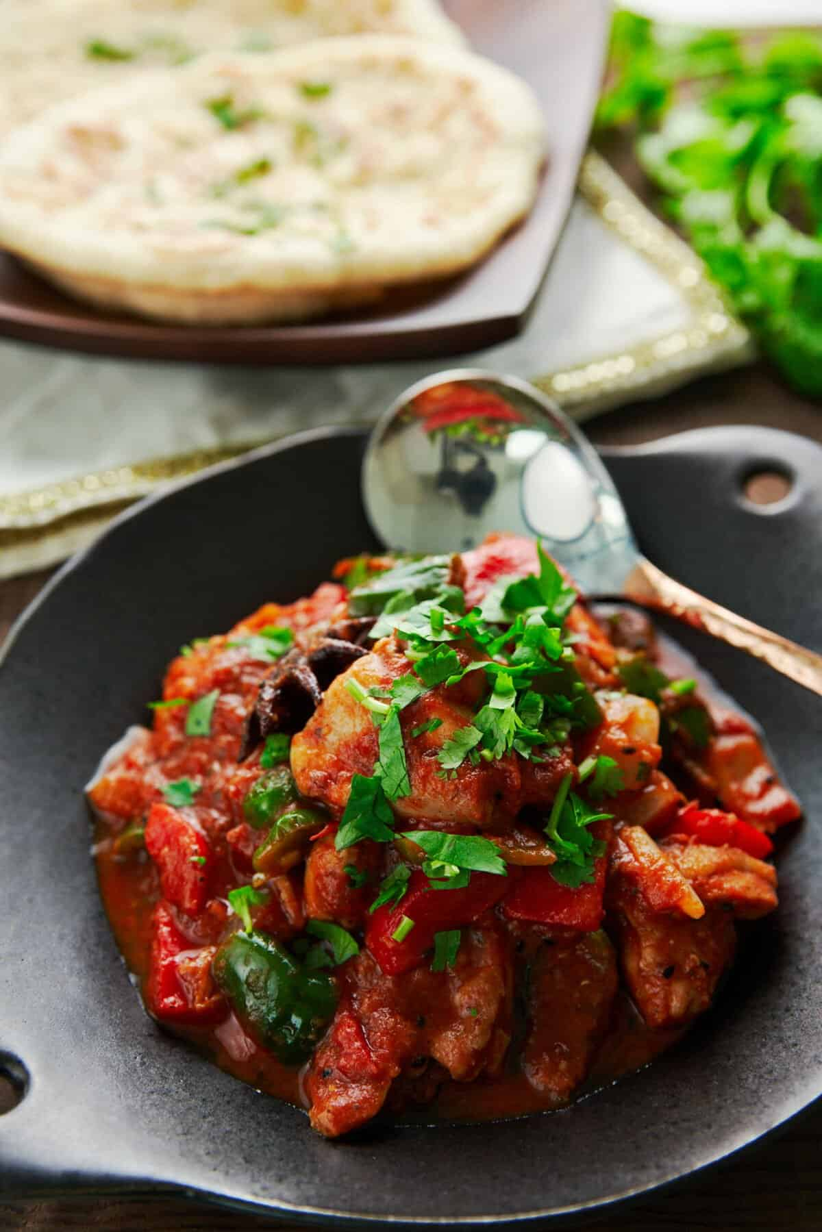 Chicken Jalfrezi is an easy fragrant chicken, tomato and pepper stir-fry that's a staple of Indian Chineese cuisine.