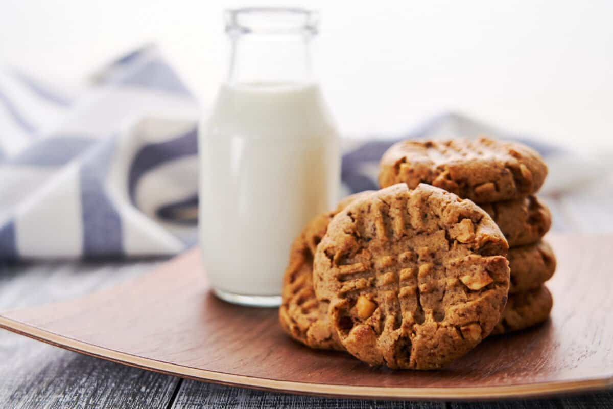Loaded with fiber and protein, these easy plant-based peanut butter cookies are ridiculously easy and addictively good.
