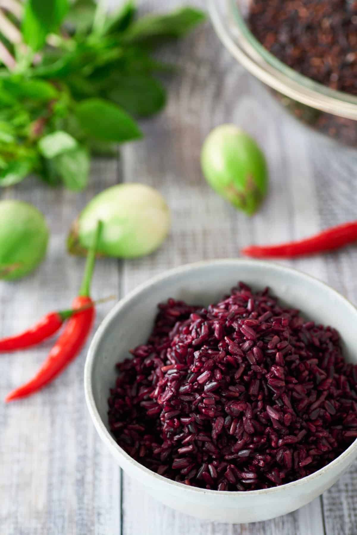 Riceberry is a wholegrain rice that's loaded with nutrients and yet it cooks up just like white rice.