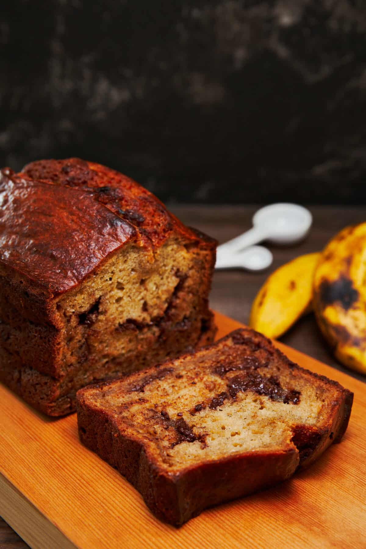 With a tender buttery crumb, bold banana flavor, and big hunks of chocolate, this is the best banana bread recipe ever.