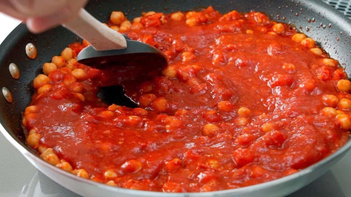 Chickpea pasta sauce.