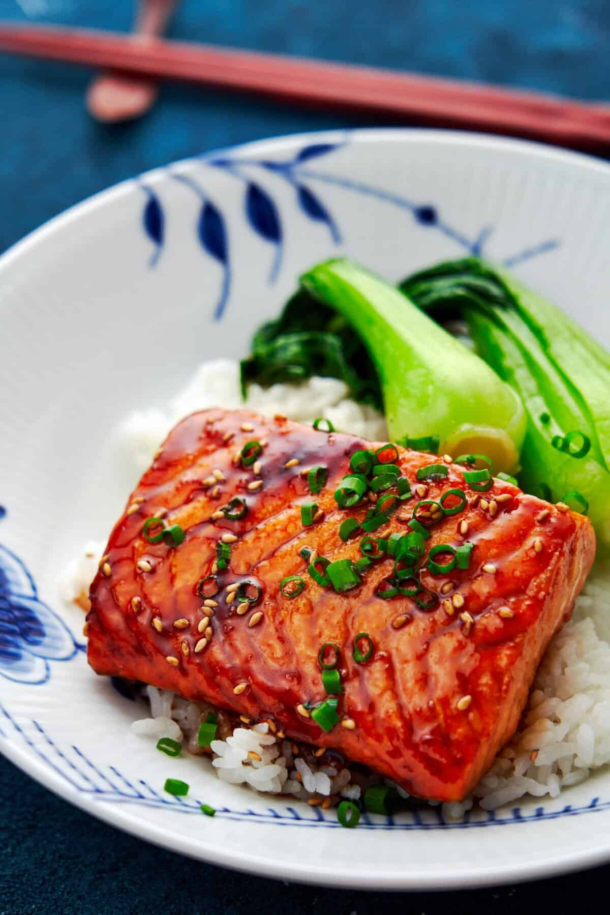 This authentic Salmon Teriyaki recipe comes together from just a handful of pantry staples in minutes.