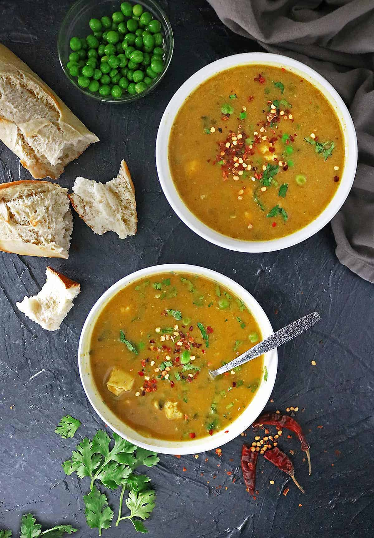 Image Healthy Ginger Pumpkin Soup With Chicken #SoothesOfTheSeason