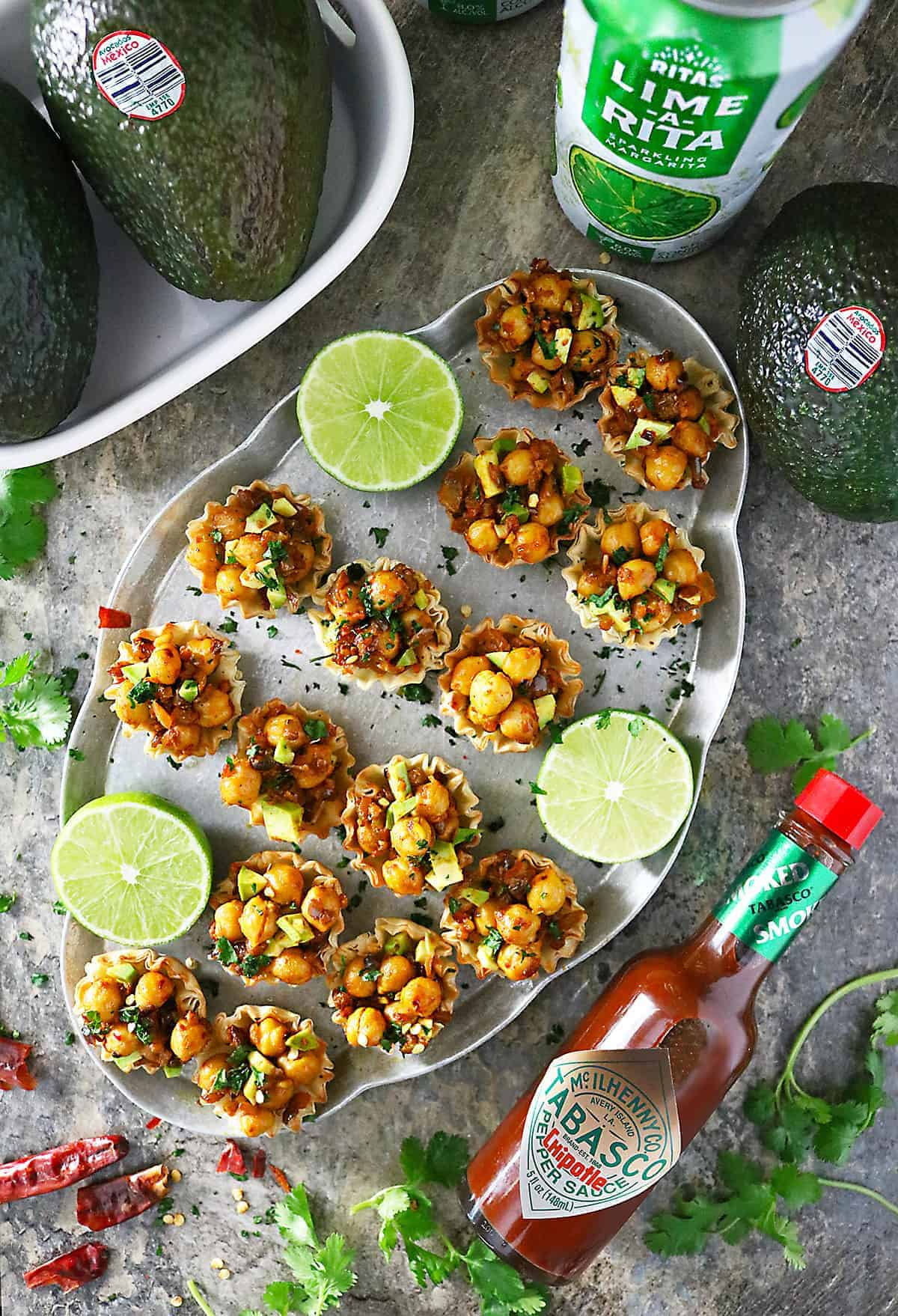Chickpea Cups made with Avocados From Mexico For Big Game Snacking