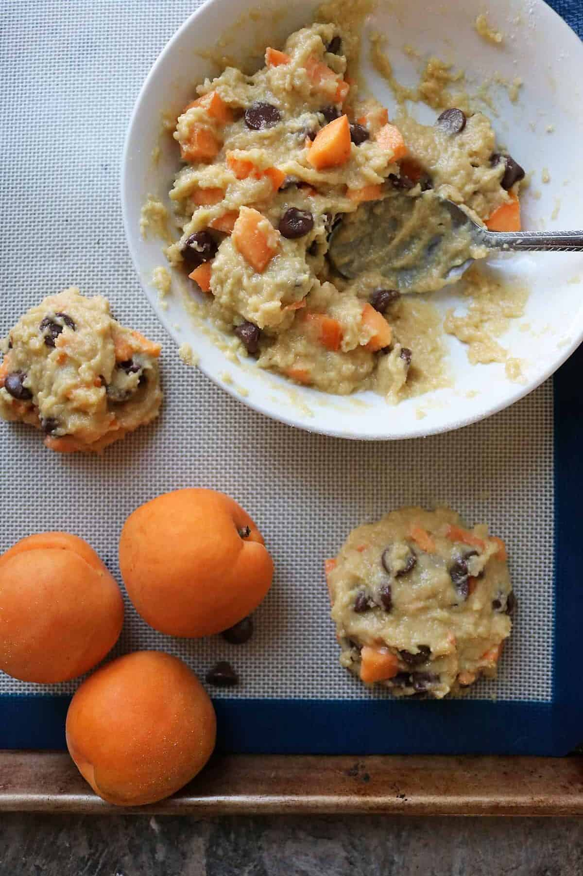 Chocolate Chip Muffin Tops with Apricots