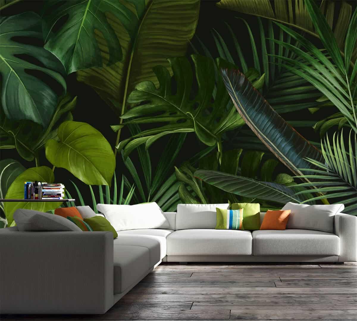 zielone liście-dżungla-egzotyczne rośliny