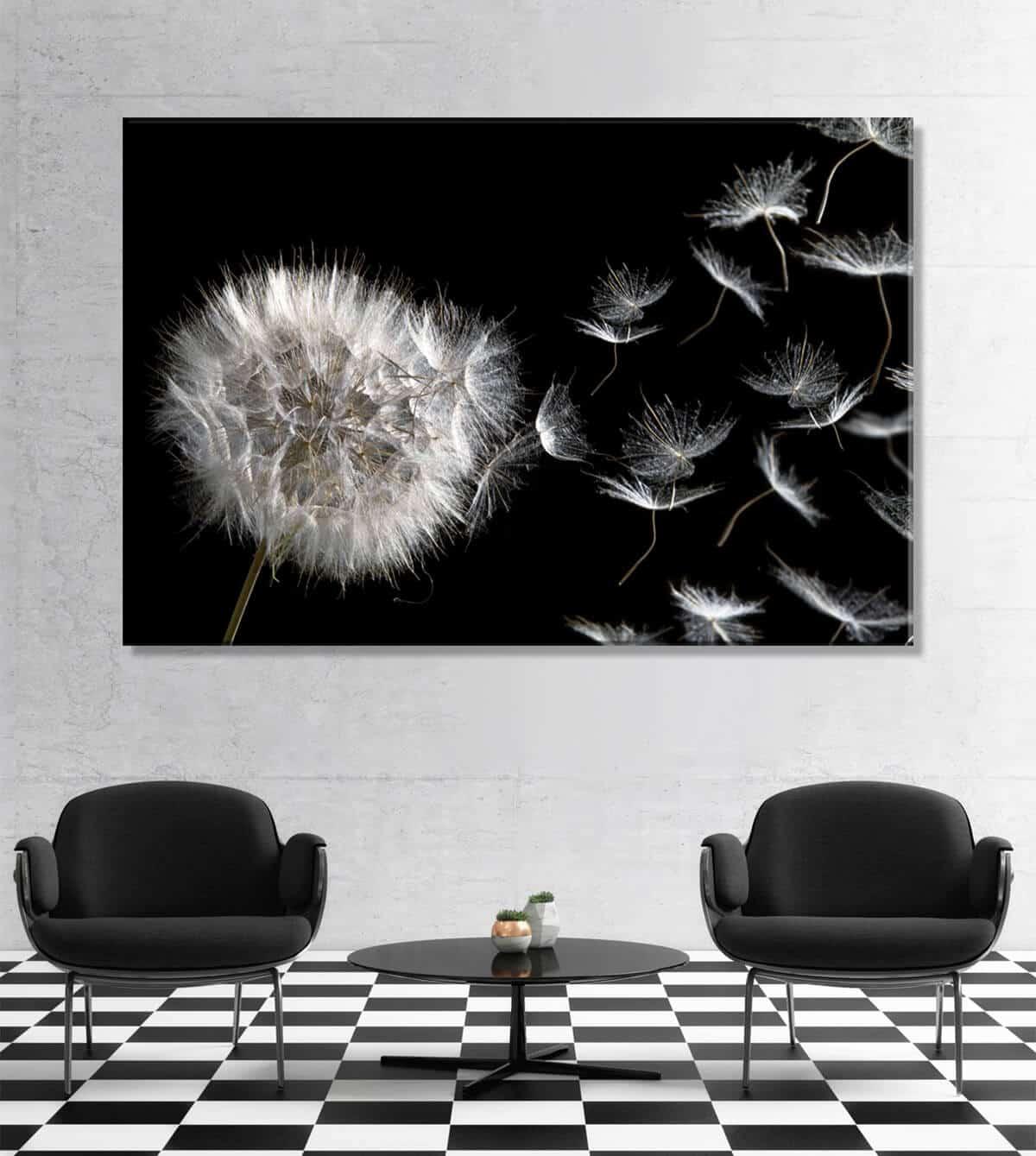 Obrazy do salonu Kwiaty Dmuchawca 215